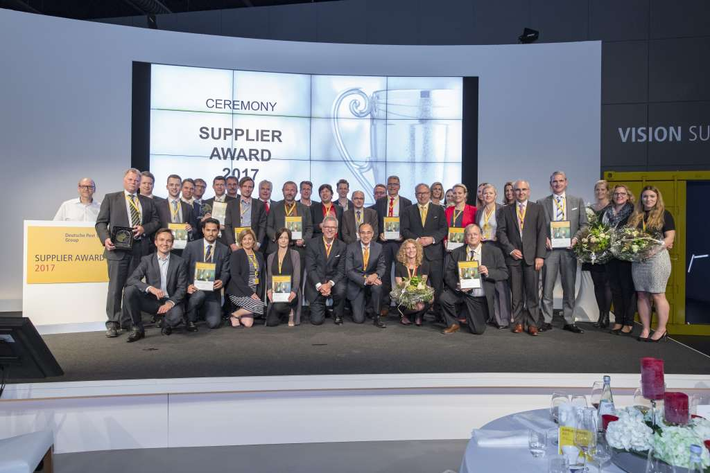 "Verleihung des ""Supplier Awards 2017"" der Deutschen Post DHL Group"