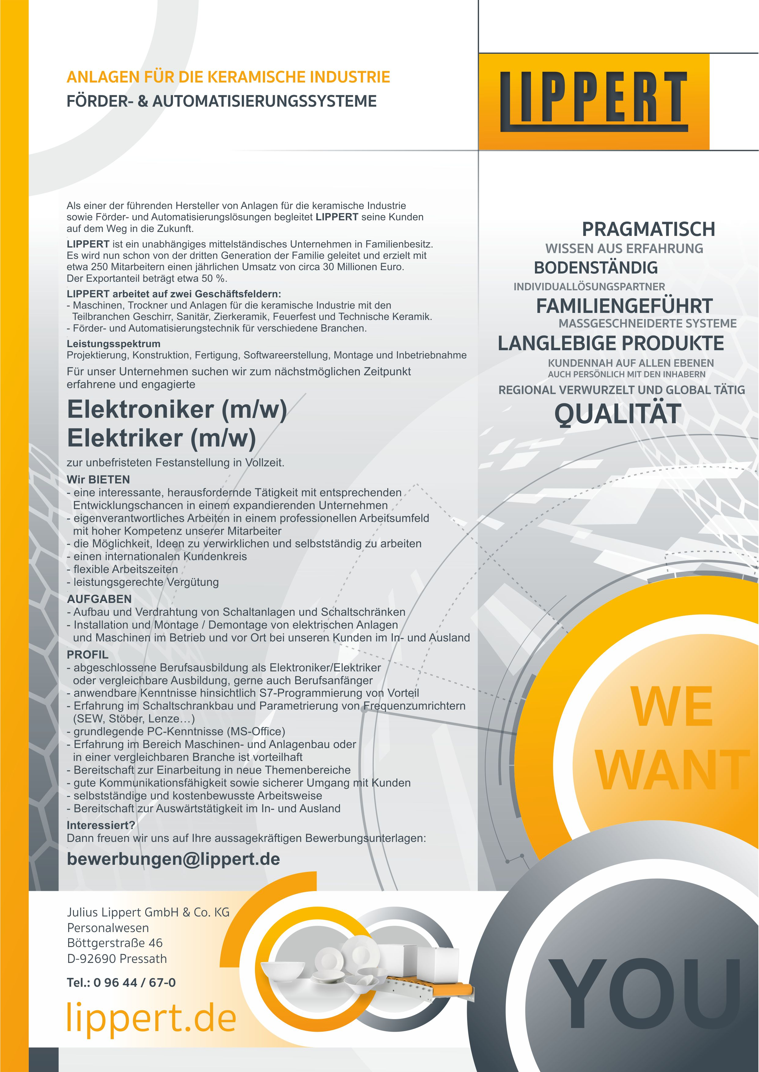 Elektroniker/Elektriker (m/w/d)