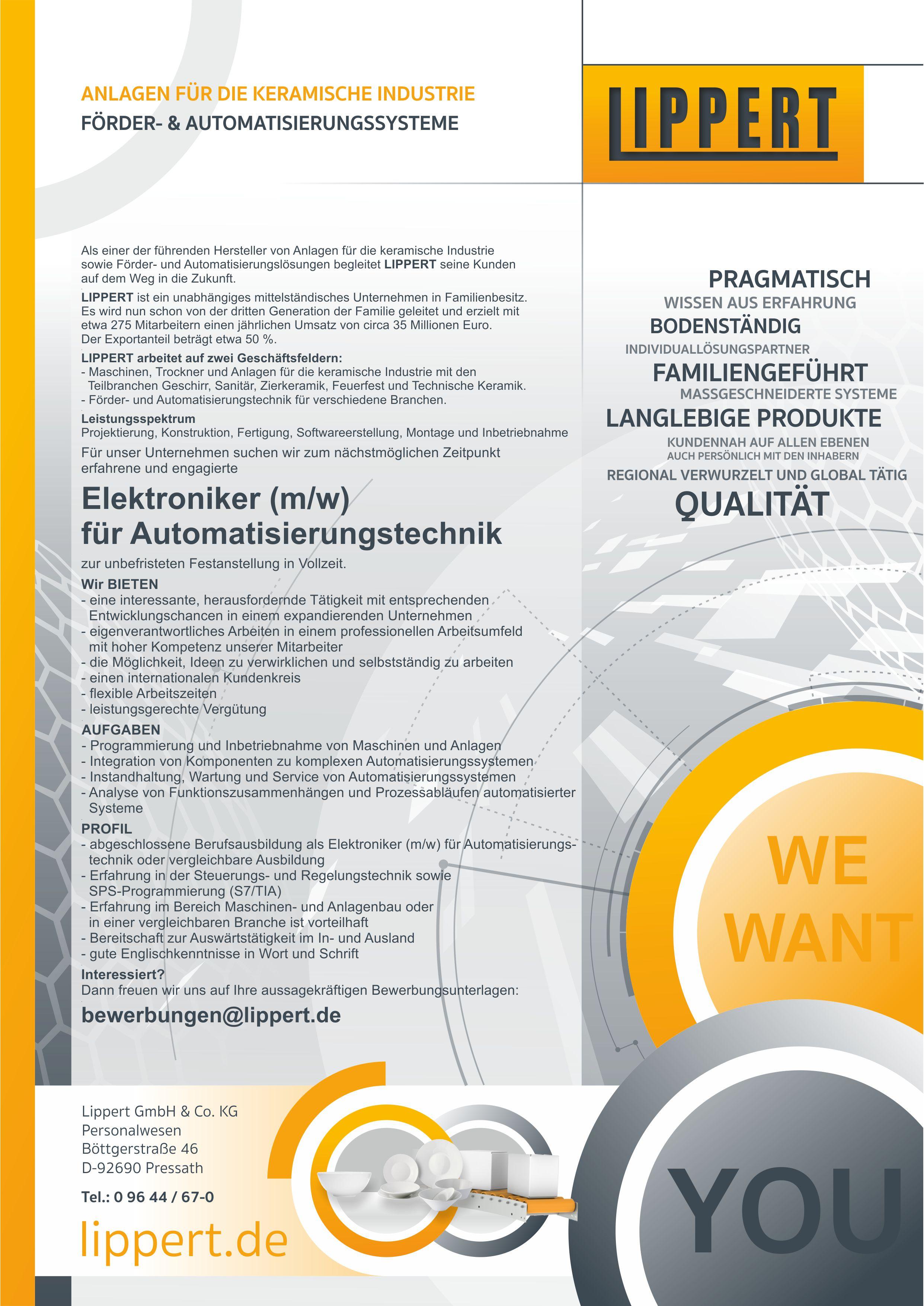 Elektroniker für Automatisierungstechnik (m/w/d)