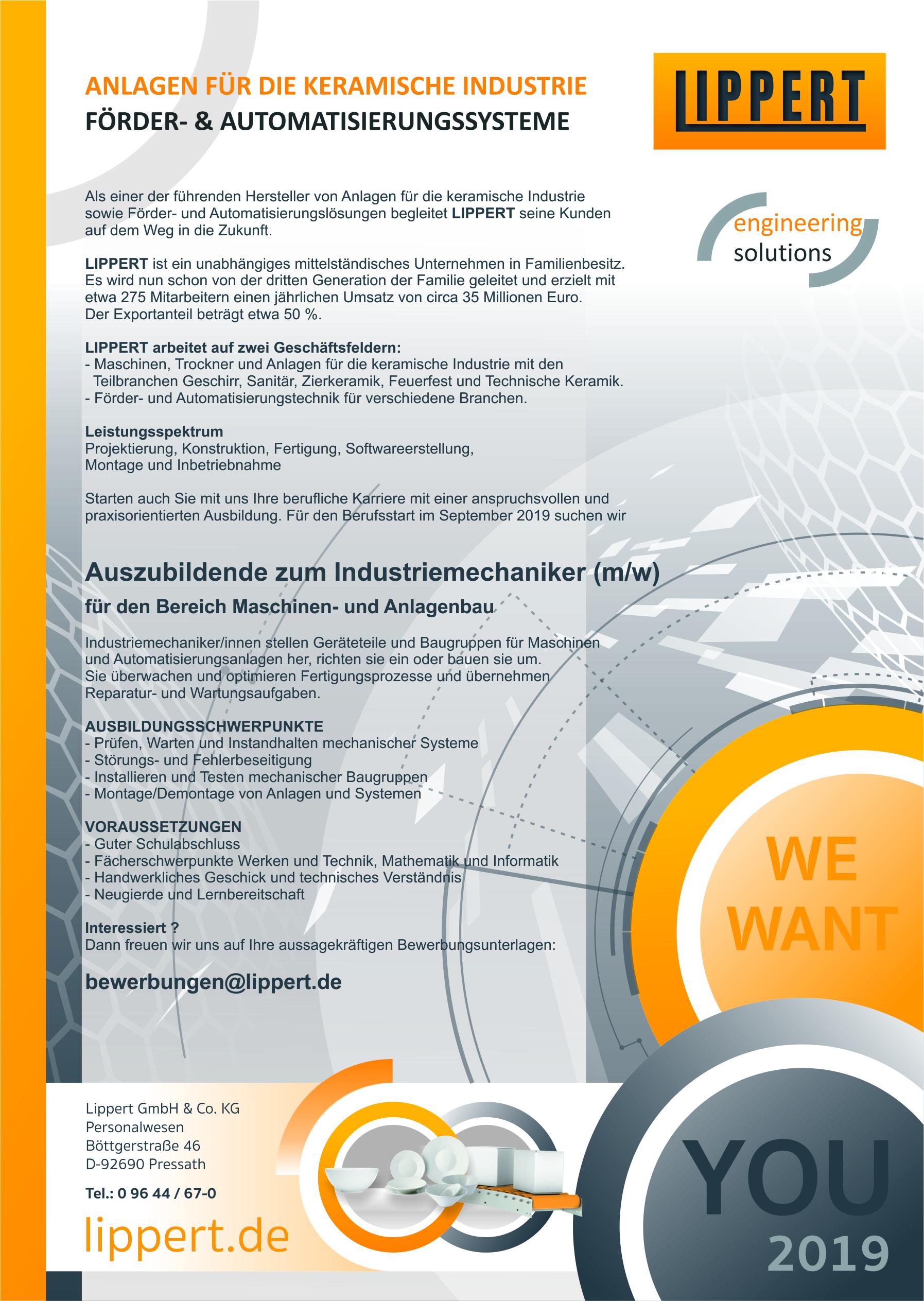 Für Auszubildende Lippert Engineering Solutions