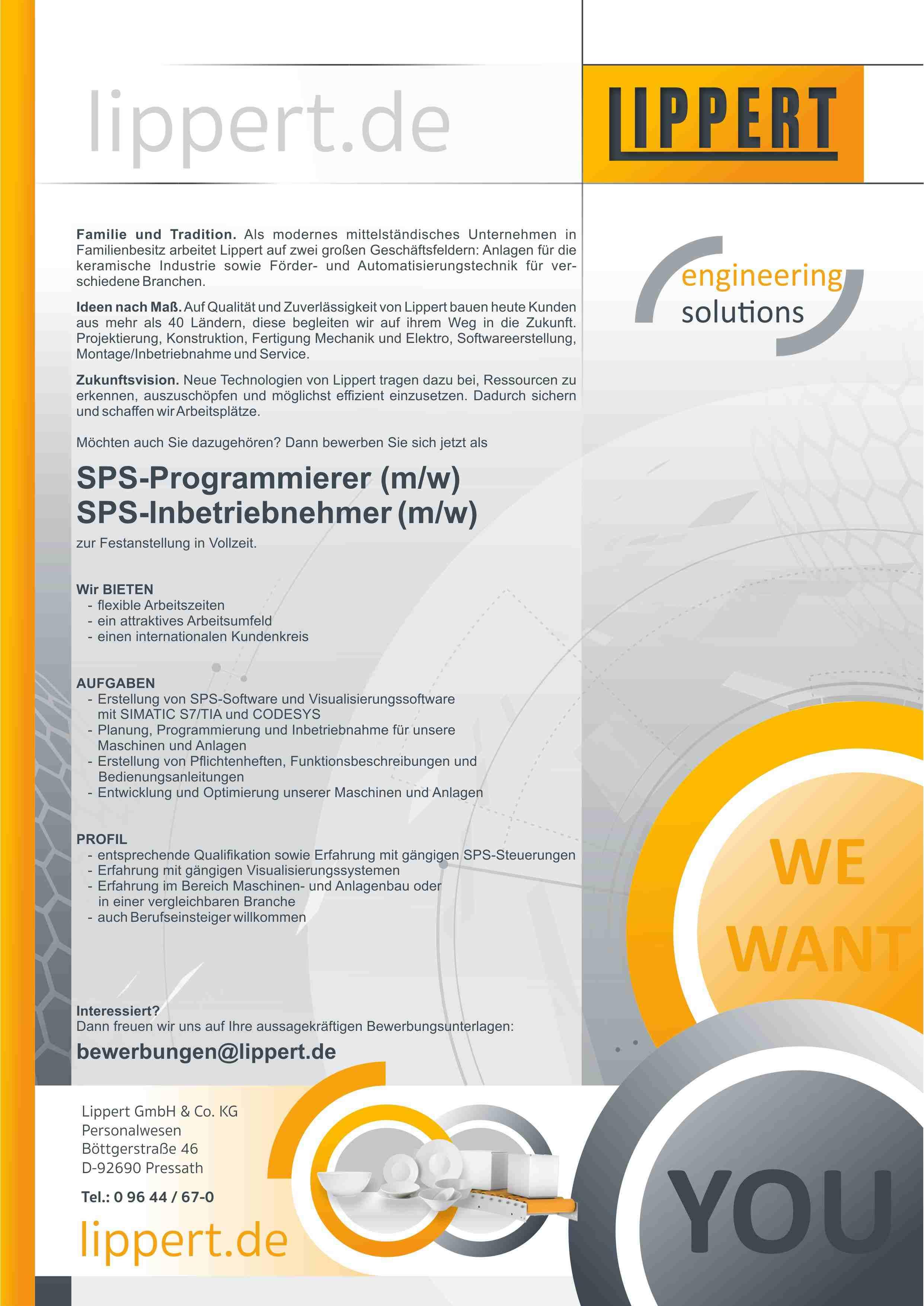 SPS-Programmierer (m/w/d)