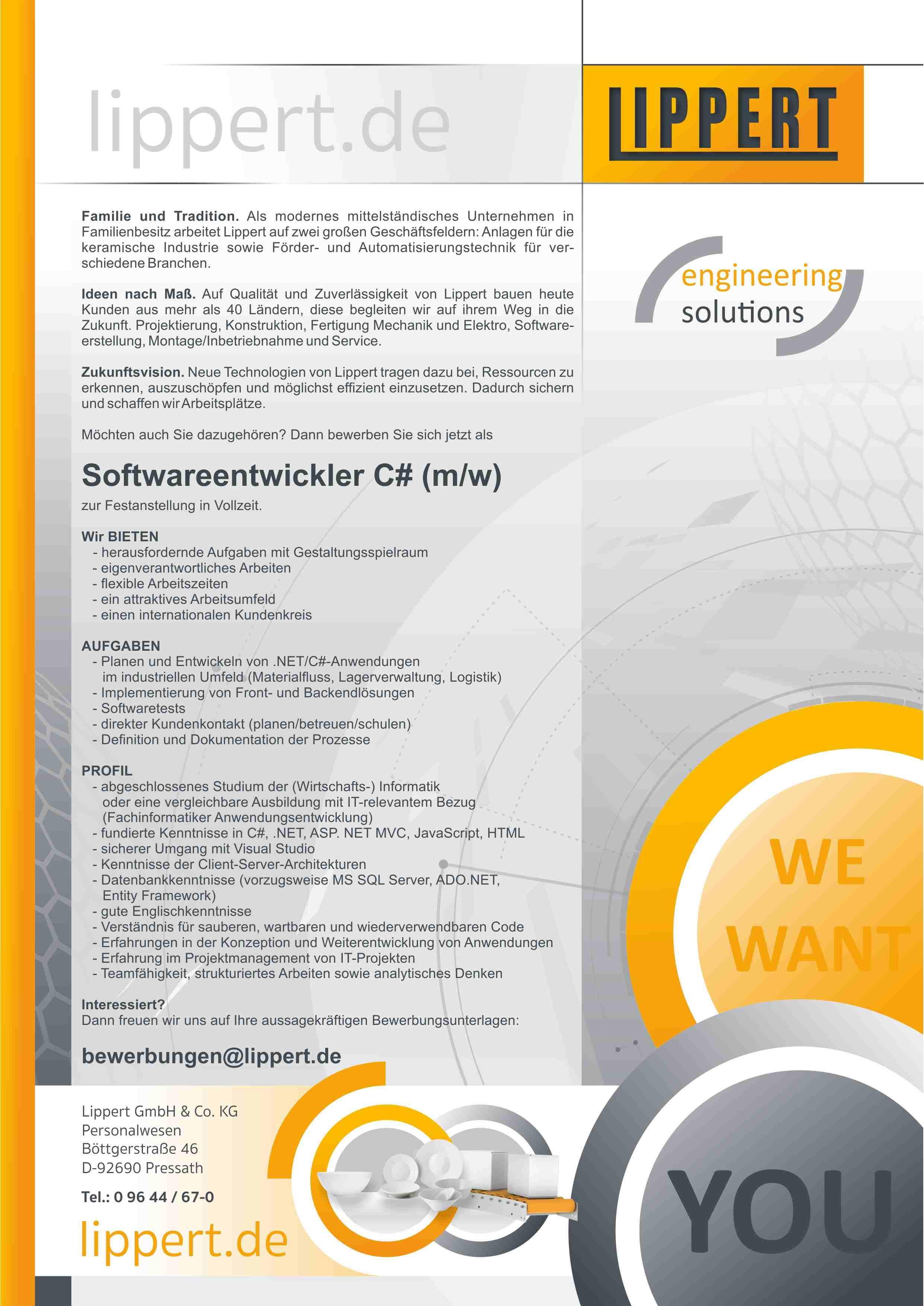 Softwareentwickler (m/w/d)