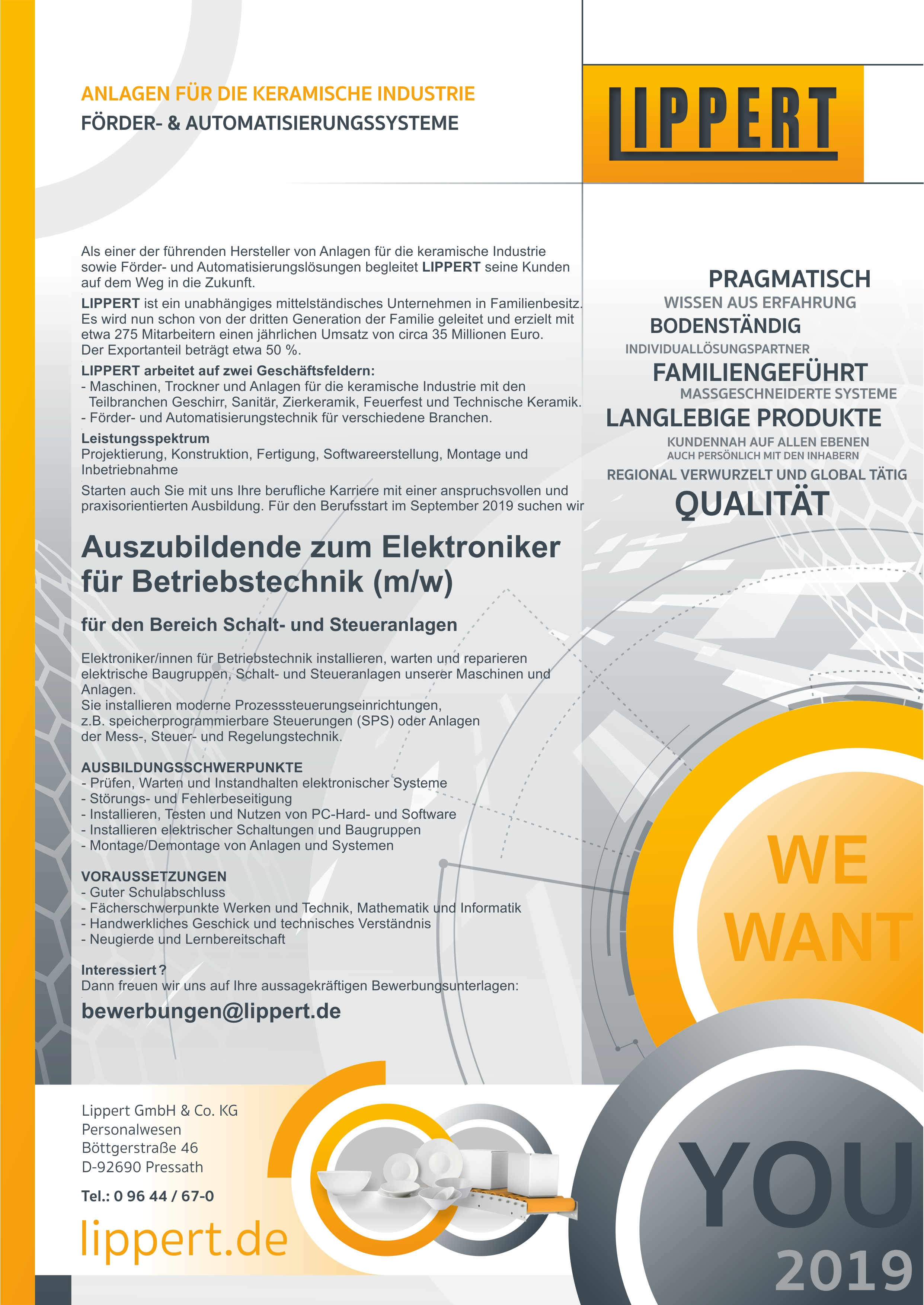 Elektroniker für Betriebstechnik (m/w/d)