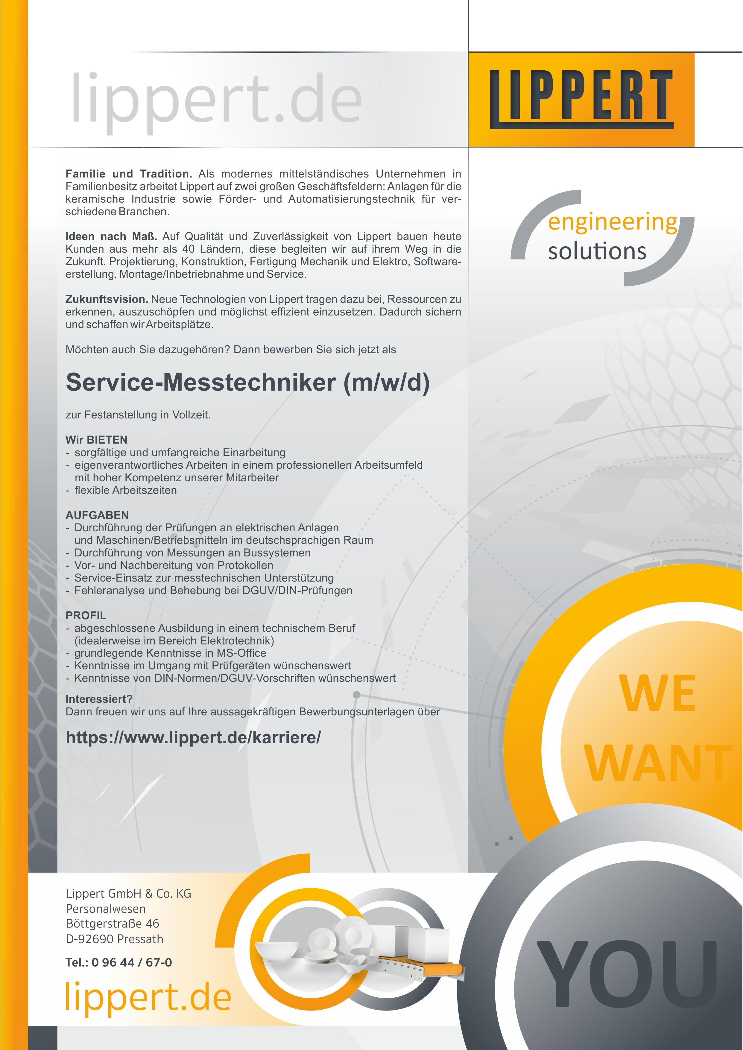 Service-Messtechniker (m/w/d)