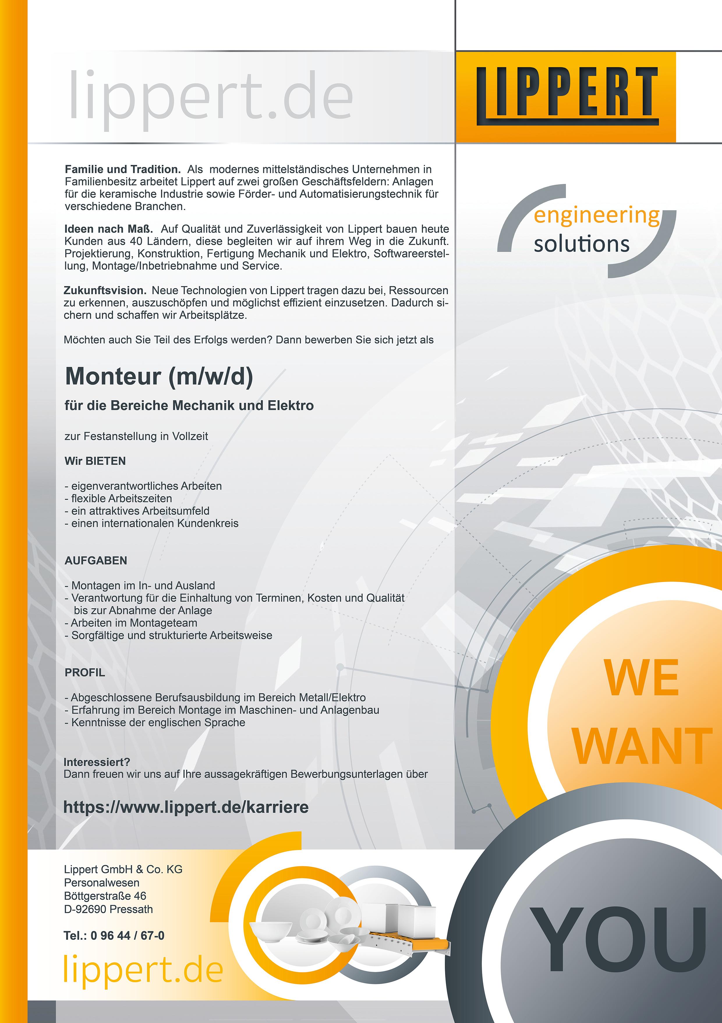 Monteur (m/w/d)