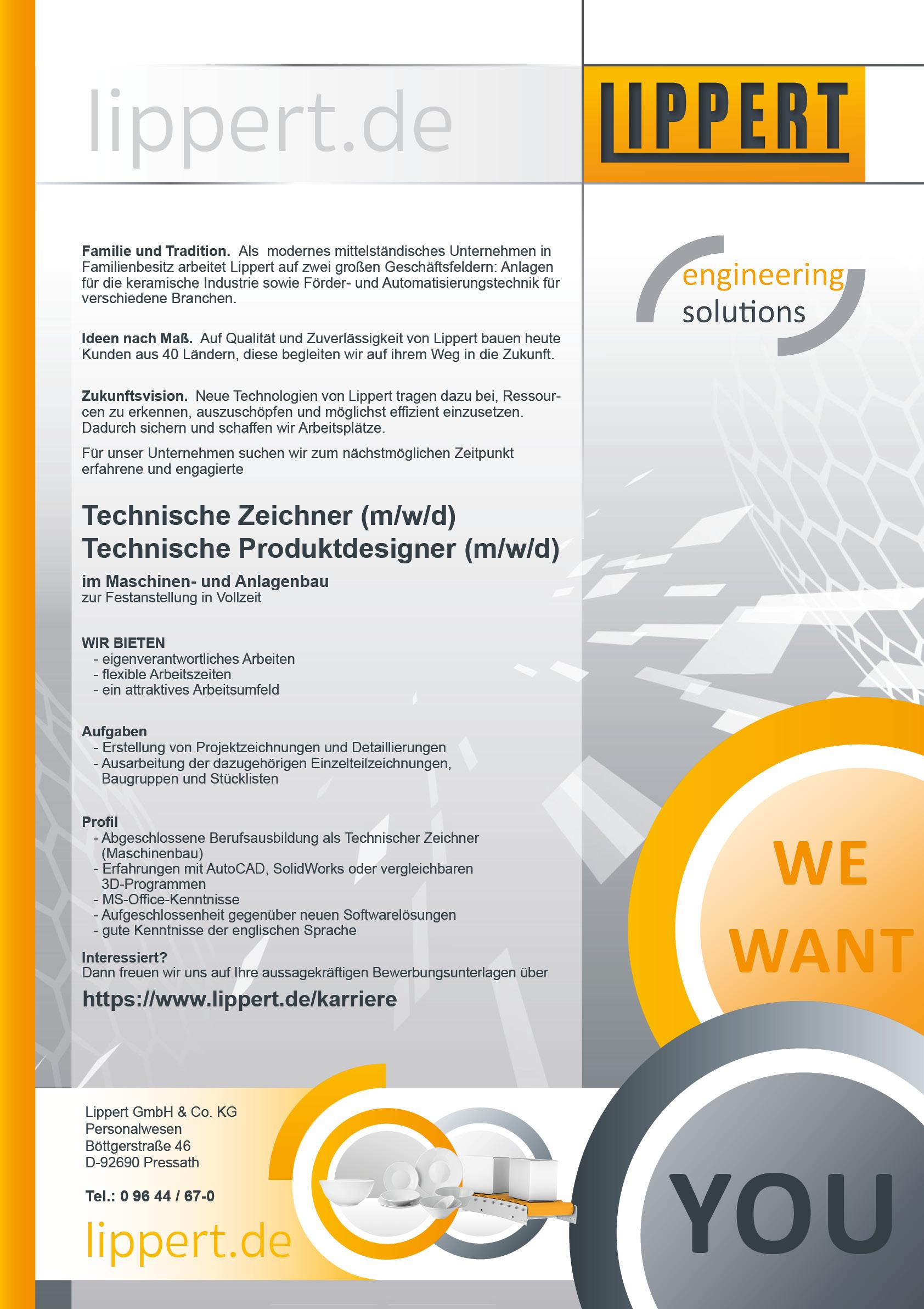 Technische Zeichner / Technische Produktdesigner (m/w/d)